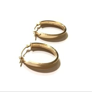 10K Gold U Hoop Earrings